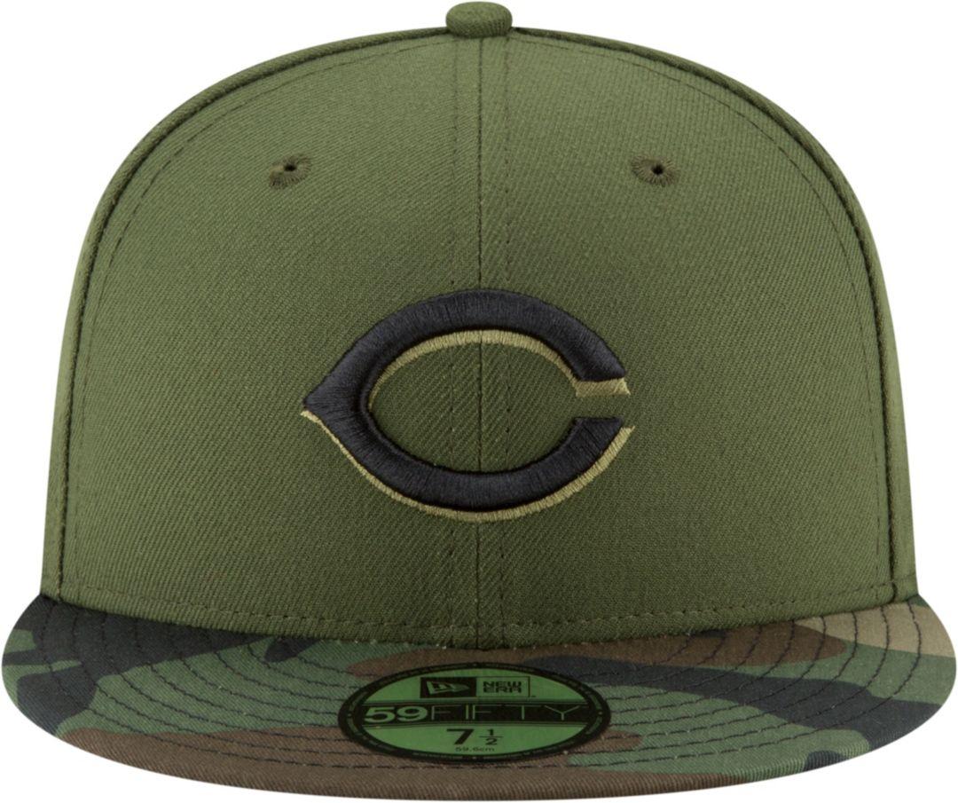 c92ed0d05 New Era Men's Cincinnati Reds 59Fifty Alternate Camo Authentic Hat