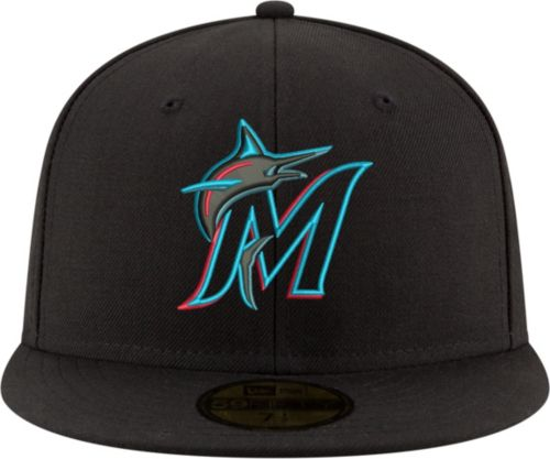 8c10aa2b8e9 New Era Men s Miami Marlins 59Fifty Game Black Authentic Hat. noImageFound.  Previous. 1. 2