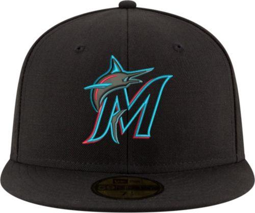 914c2b85cbf New Era Men s Miami Marlins 59Fifty Game Black Authentic Hat. noImageFound.  Previous. 1. 2