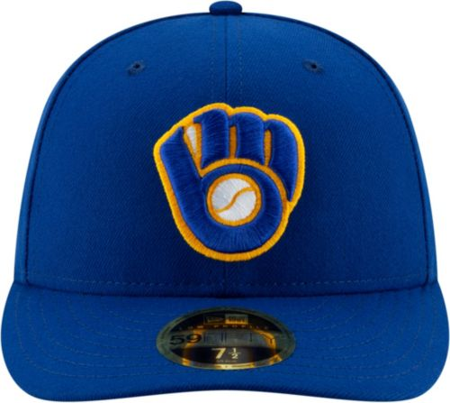 4964c87fc New Era Men's Milwaukee Brewers 59Fifty Alternate Royal Low Crown Fitted  Hat. noImageFound. Previous. 1. 2