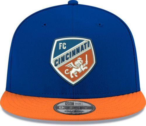 e6fff079 New Era Men's FC Cincinnati 9Fifty Logo Blue Snapback Adjustable Hat ...