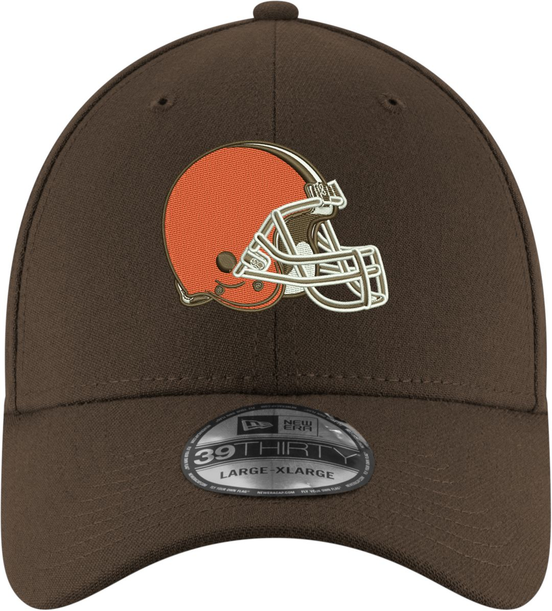 af1095359277c2 New Era Men's Cleveland Browns Team Classic 39Thirty Brown Stretch Fit Hat