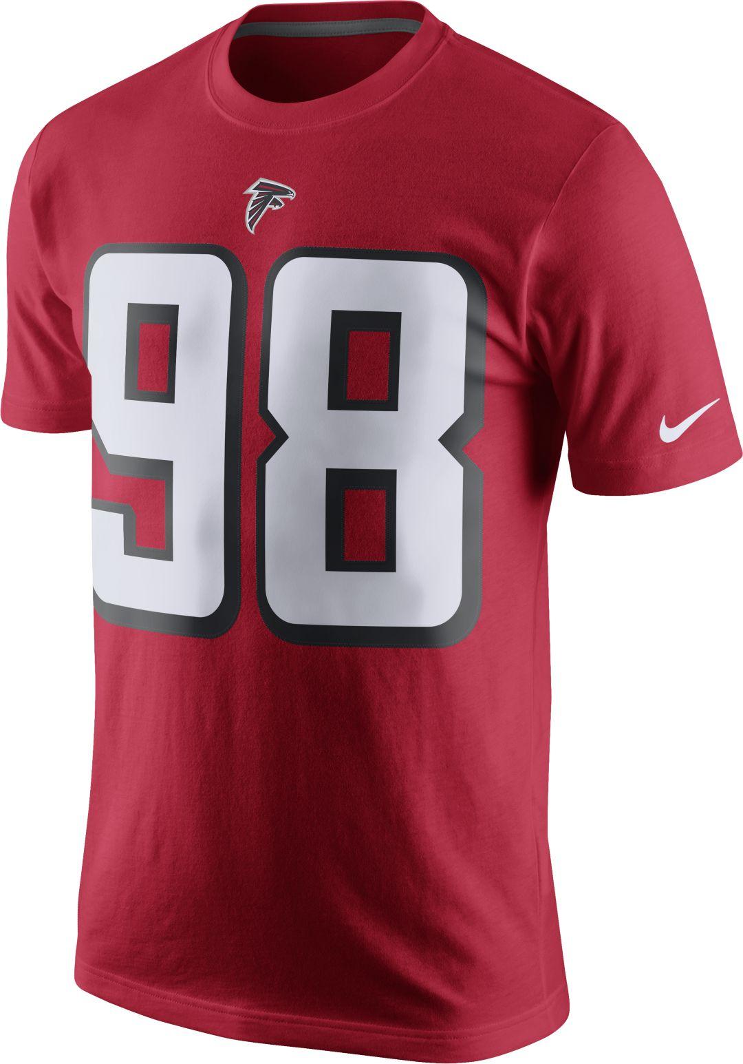f7c0ca93909 Nike Men's Atlanta Falcons Takkarist McKinley #98 Pride Red T-Shirt ...