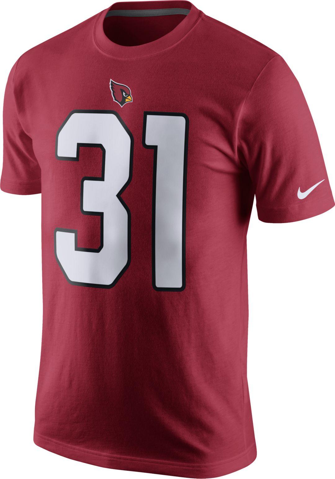 new style 4f43b a16c2 Nike Men's Arizona Cardinals David Johnson #31 Pride Red T-Shirt