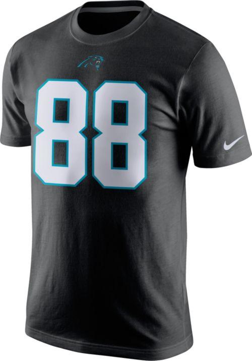 b6898fdc6 Nike Men s Carolina Panthers Greg Olsen  88 Pride Black T-Shirt ...