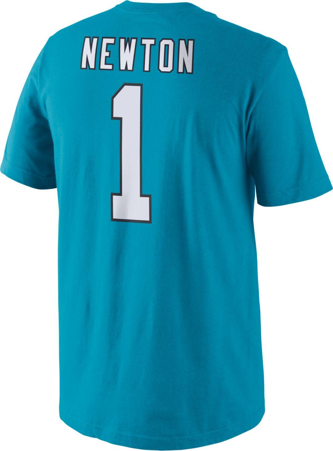 a4c53d6e4 Nike Men's Carolina Panthers Cam Newton #1 Pride Blue T-Shirt.  noImageFound. Previous. 1. 2. 3