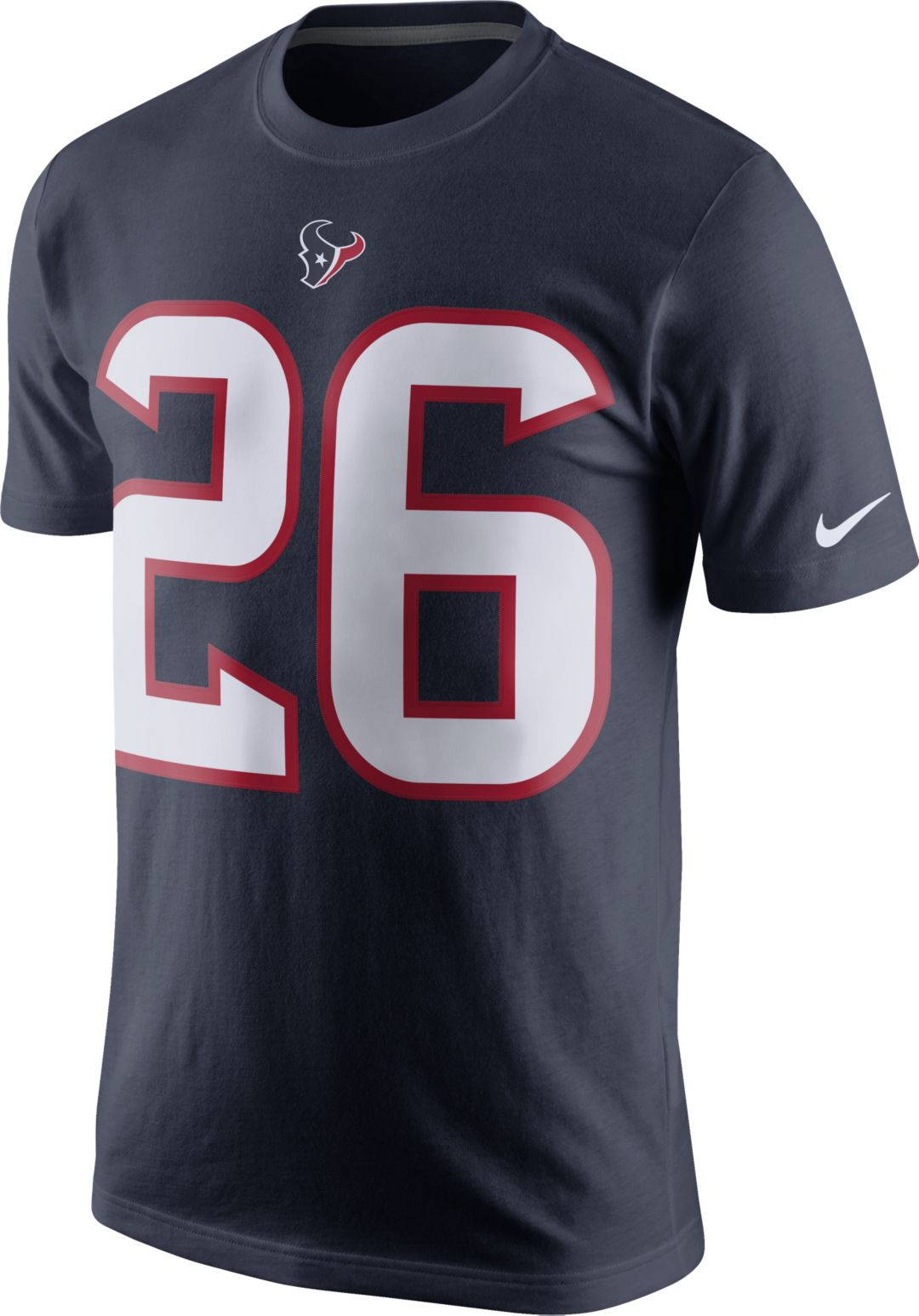 check out 43208 77dad Nike Men's Houston Texans Lamar Miller #26 Pride Navy T-Shirt
