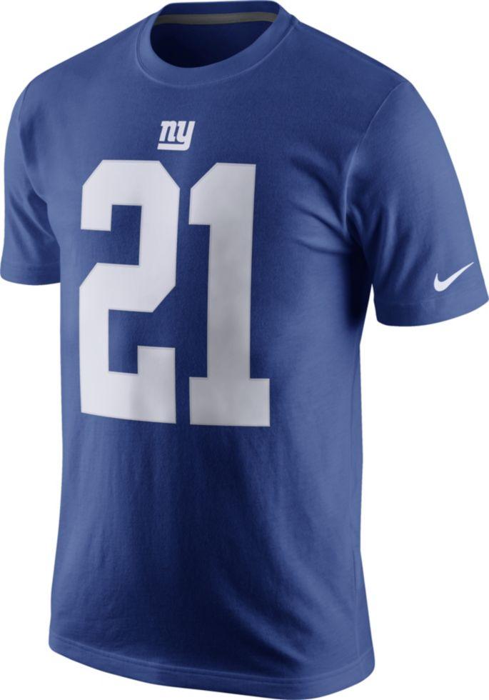 514f4f63 Nike Men's New York Giants Landon Collins #21 Pride Blue T-Shirt ...