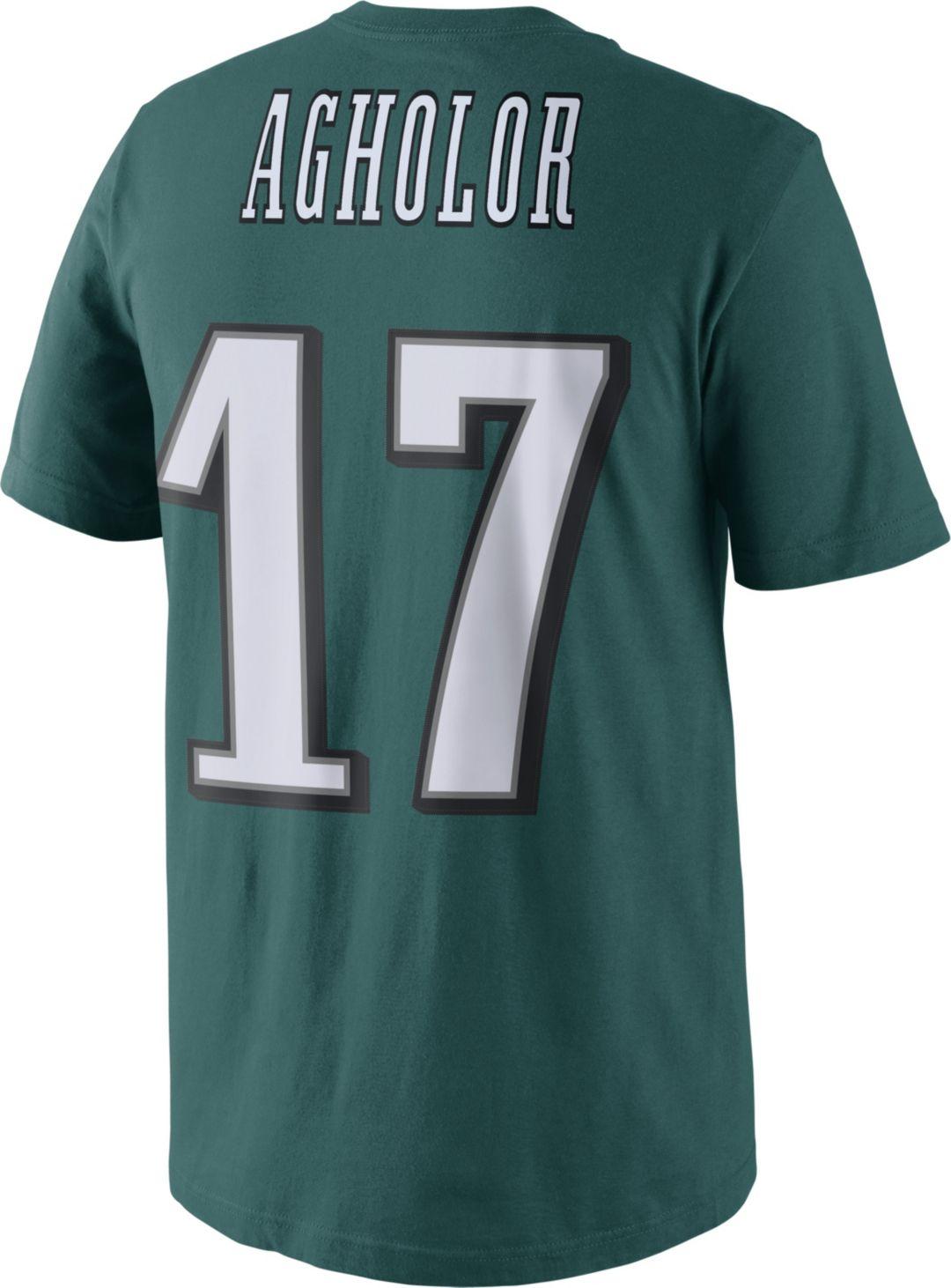 info for 2f57b 94be7 Nike Men's Philadelphia Eagles Nelson Agholor #17 Pride Green T-Shirt