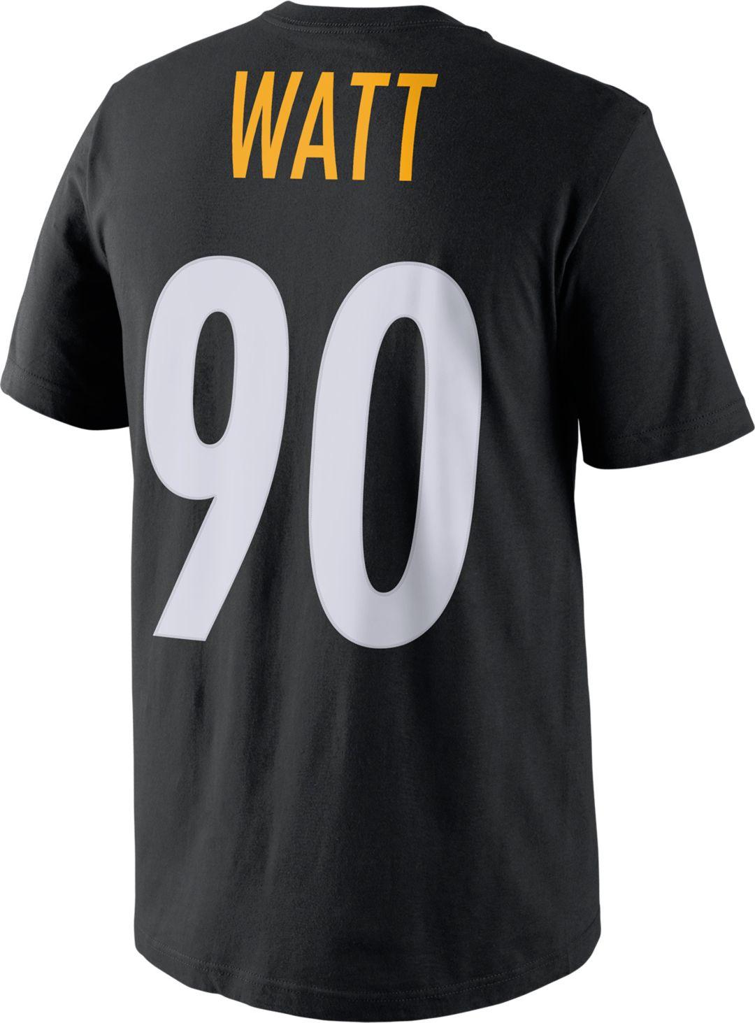 b72957c3b Nike Men's Pittsburgh Steelers T.J. Watt #90 Pride Black T-Shirt ...