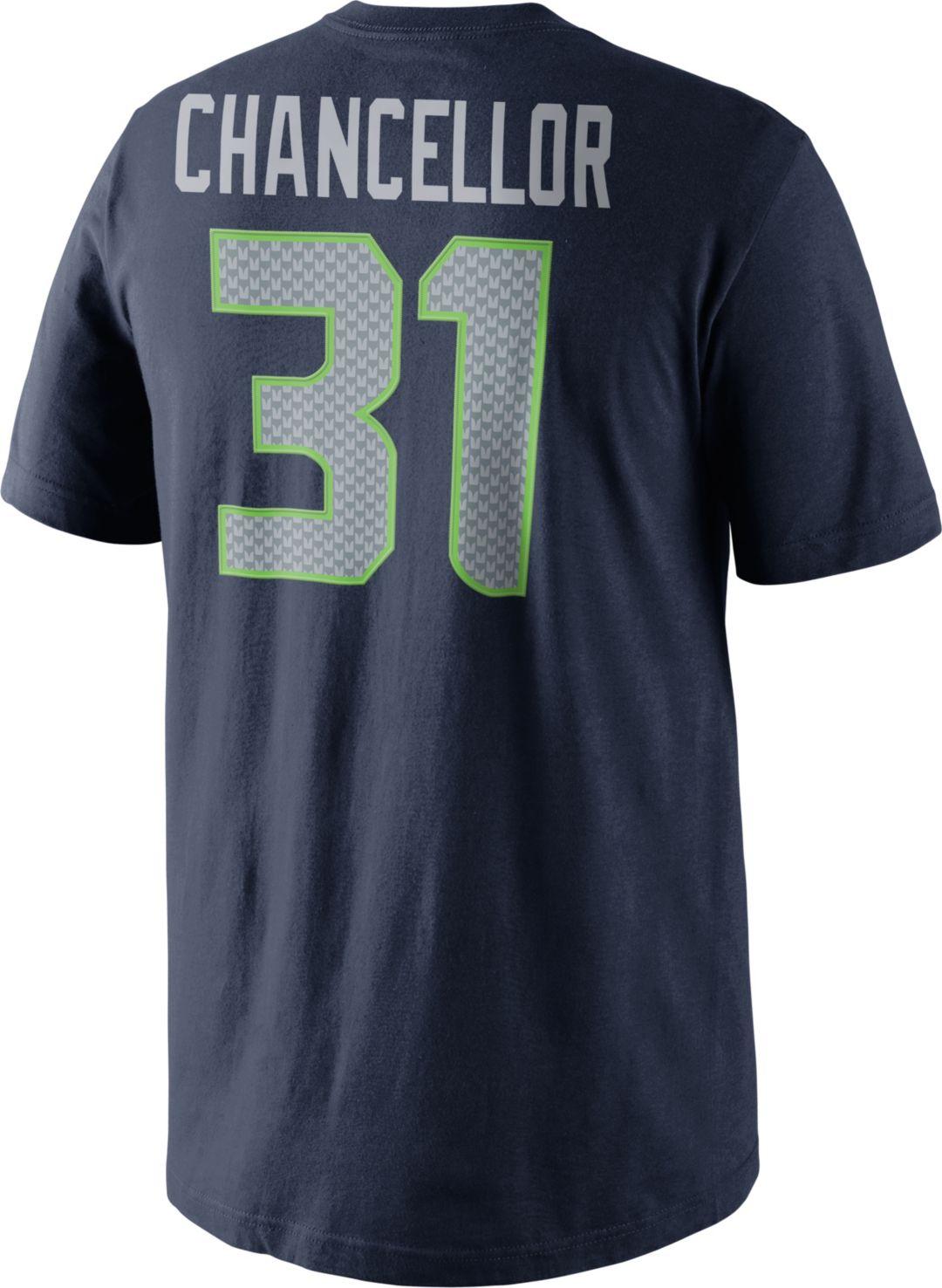 7cfeb8cf Nike Men's Seattle Seahawks Kam Chancellor #31 Pride Navy T-Shirt