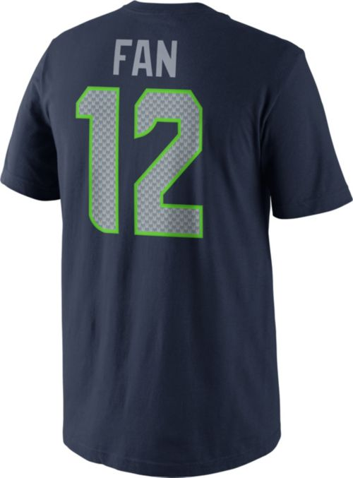 Nike Men s Seattle Seahawks Fan  12 Pride Navy T-Shirt. noImageFound.  Previous. 1. 2. 3 8991906b0