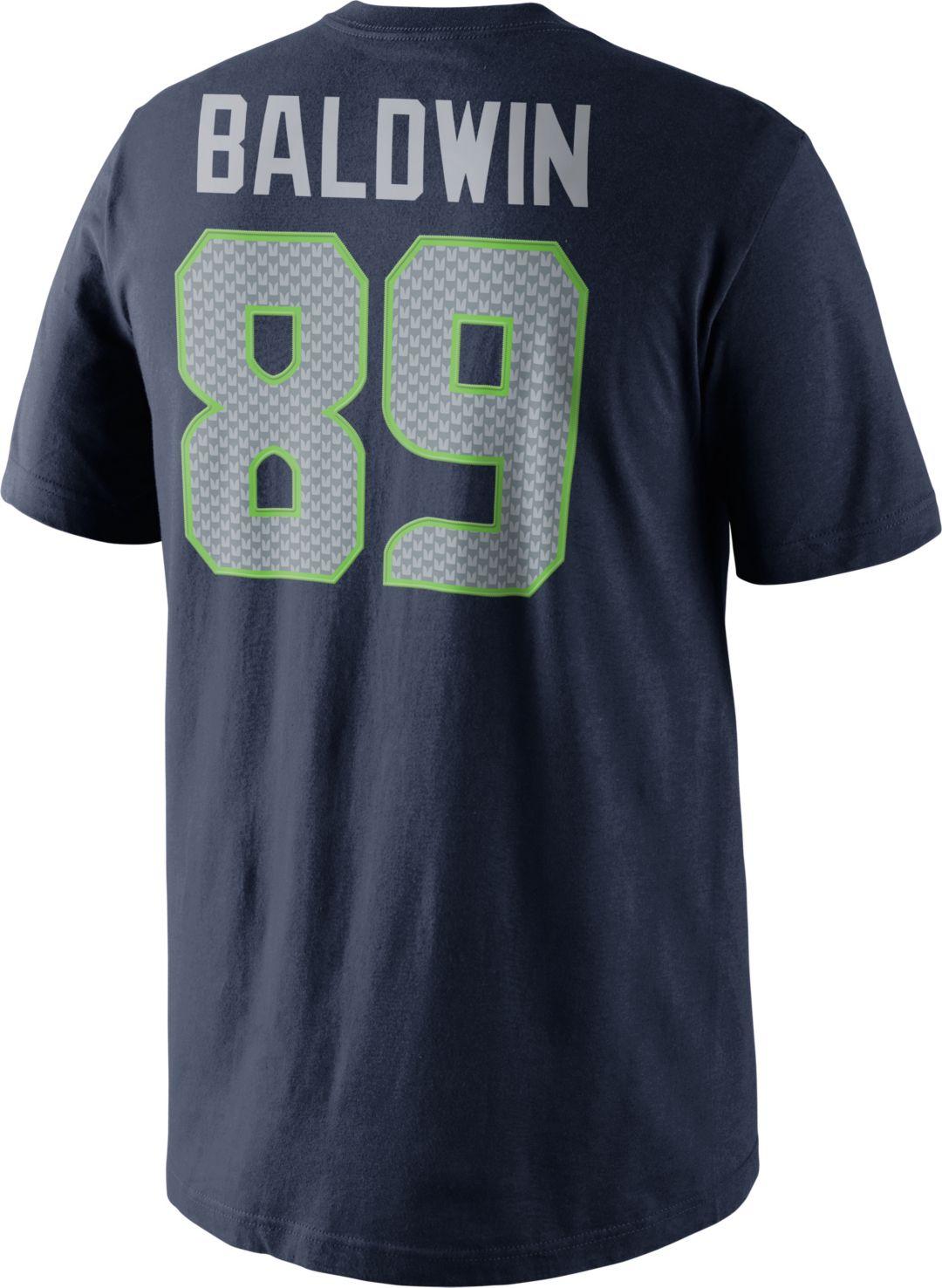 Wholesale Nike Men's Seattle Seahawks Doug Baldwin #89 Pride Navy T Shirt  hot sale