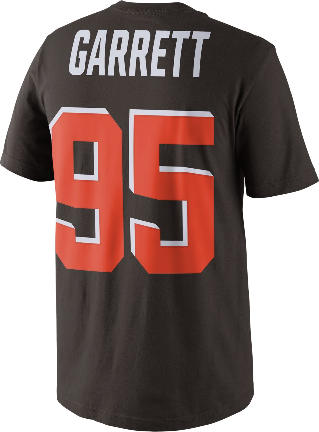 save off 88c8e 0b4a4 Nike Men's Cleveland Browns Myles Garrett #95 Pride Brown T-Shirt