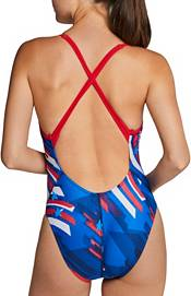 Speedo Women's Stripes and Stars Relay Back One Piece Swimsuit product image