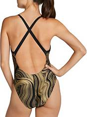 Speedo Women's Dripping in Gold Relay Back One Piece Swimsuit product image