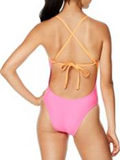 Speedo Women's Solid Splice Tie Back One Piece Swimsuit product image