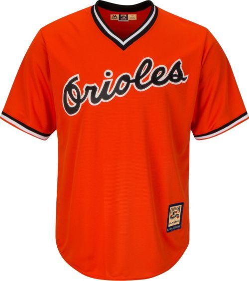 873987c573d Majestic Men s Replica Baltimore Orioles Cal Ripken Jr. Cool Base Orange  Cooperstown Jersey