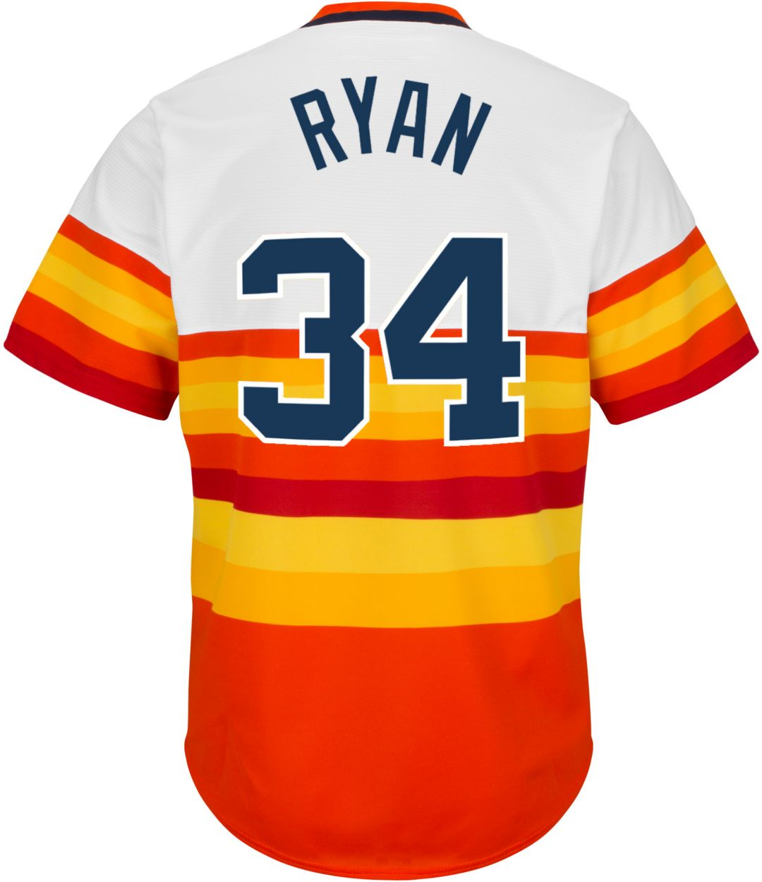 classic 6e191 33bf0 Majestic Men's Replica Houston Astros Nolan Ryan Cool Base Rainbow  Cooperstown Jersey