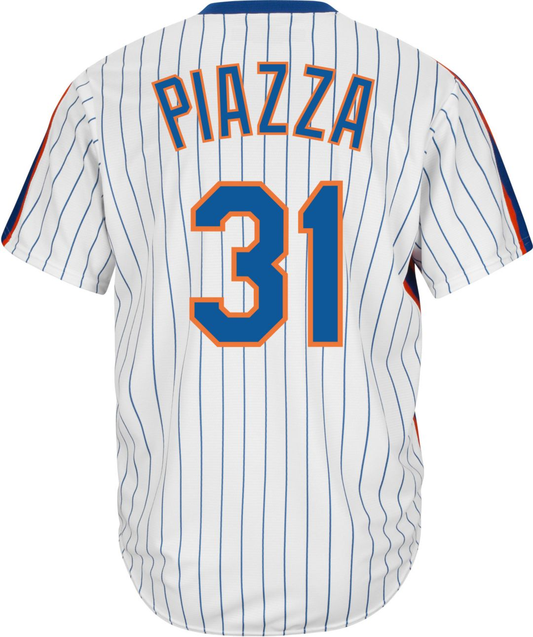 best sneakers 8a01d 1356e Majestic Men's Replica New York Mets Mike Piazza Cool Base White  Cooperstown Jersey
