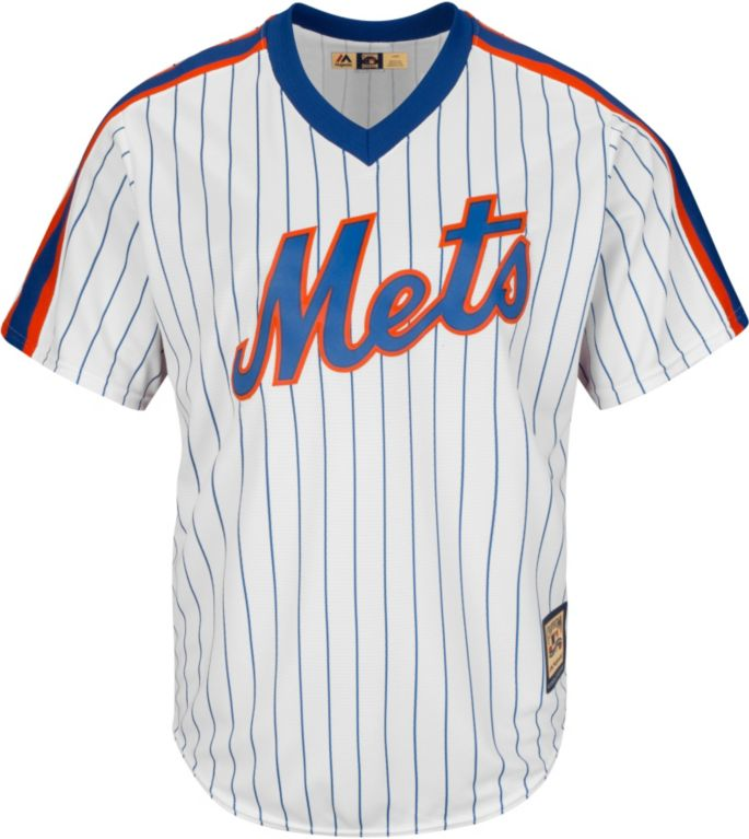 low priced e2f2e b6db9 Majestic Men's Replica New York Mets Keith Hernandez Cool Base White  Cooperstown Jersey