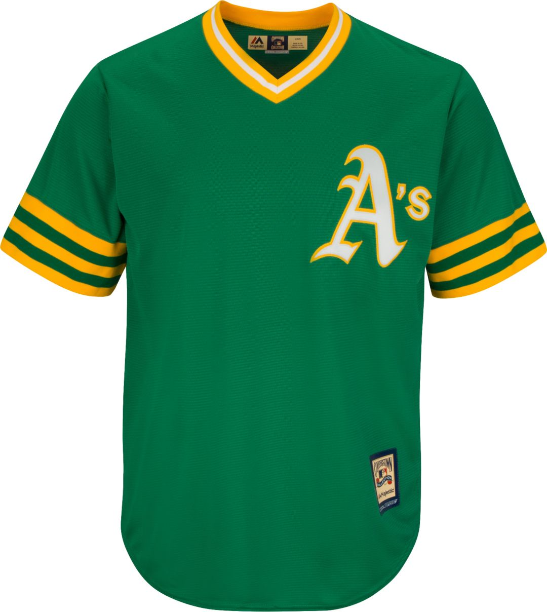 meet 8d29b 6e268 Majestic Men's Replica Oakland Athletics Reggie Jackson Cool Base Green  Cooperstown Jersey
