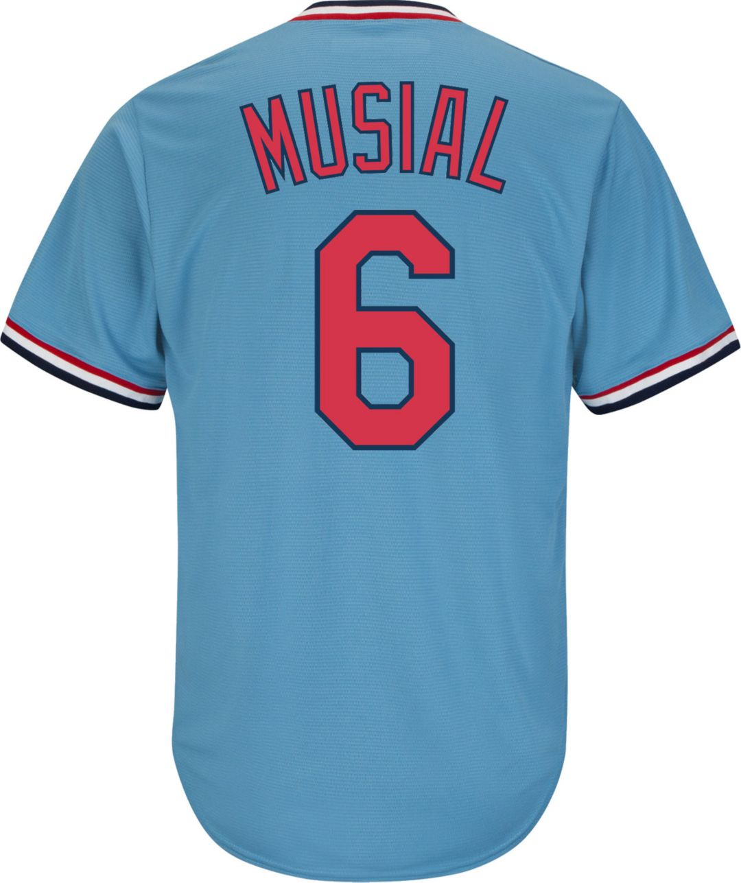 low priced 4758f 38566 Majestic Men's Replica St. Louis Cardinals Stan Musial Cool Base Light Blue  Cooperstown Jersey