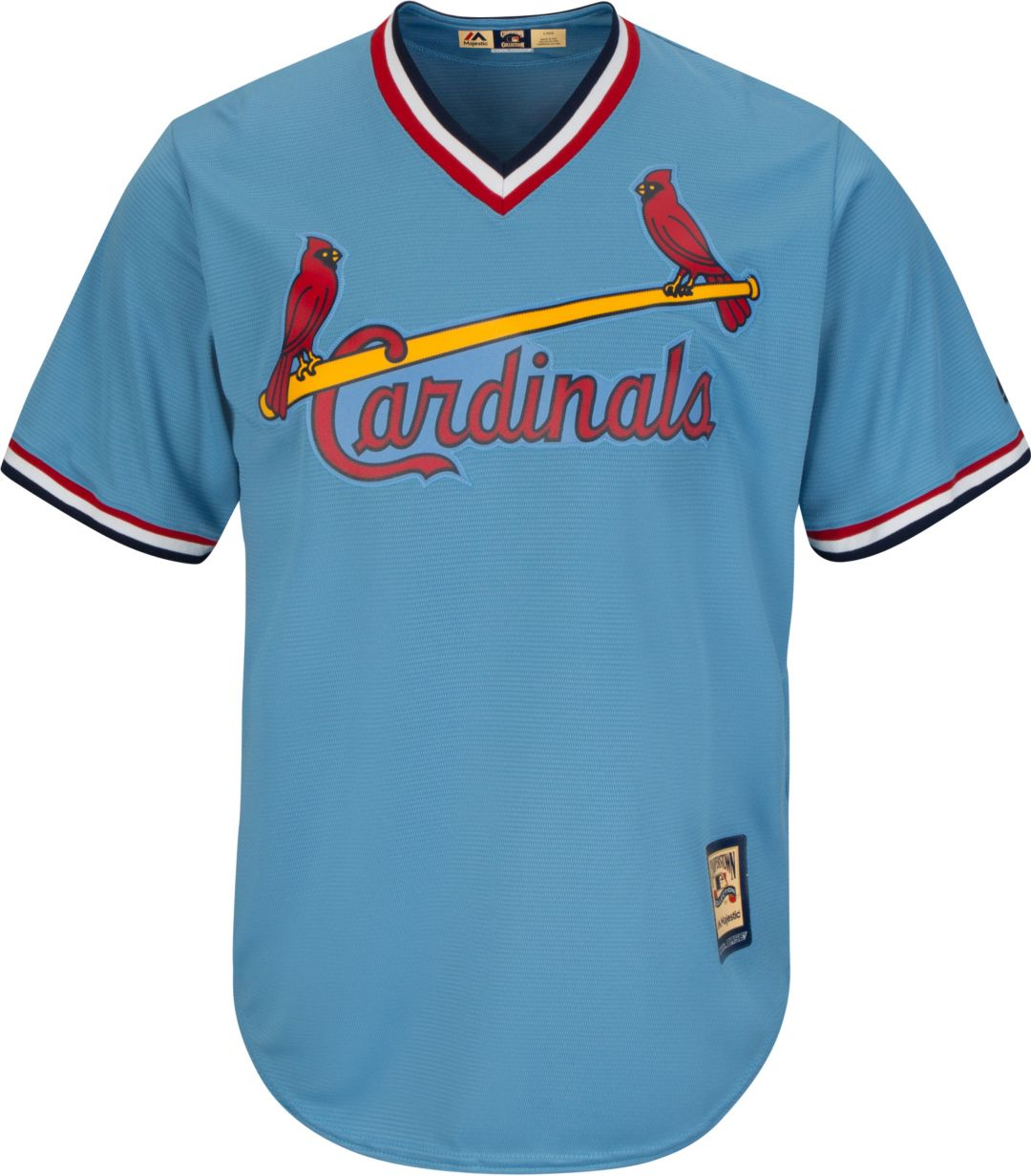 quality design 4fedc 69301 Majestic Men's Replica St. Louis Cardinals Ozzie Smith Cool Base Light Blue  Cooperstown Jersey