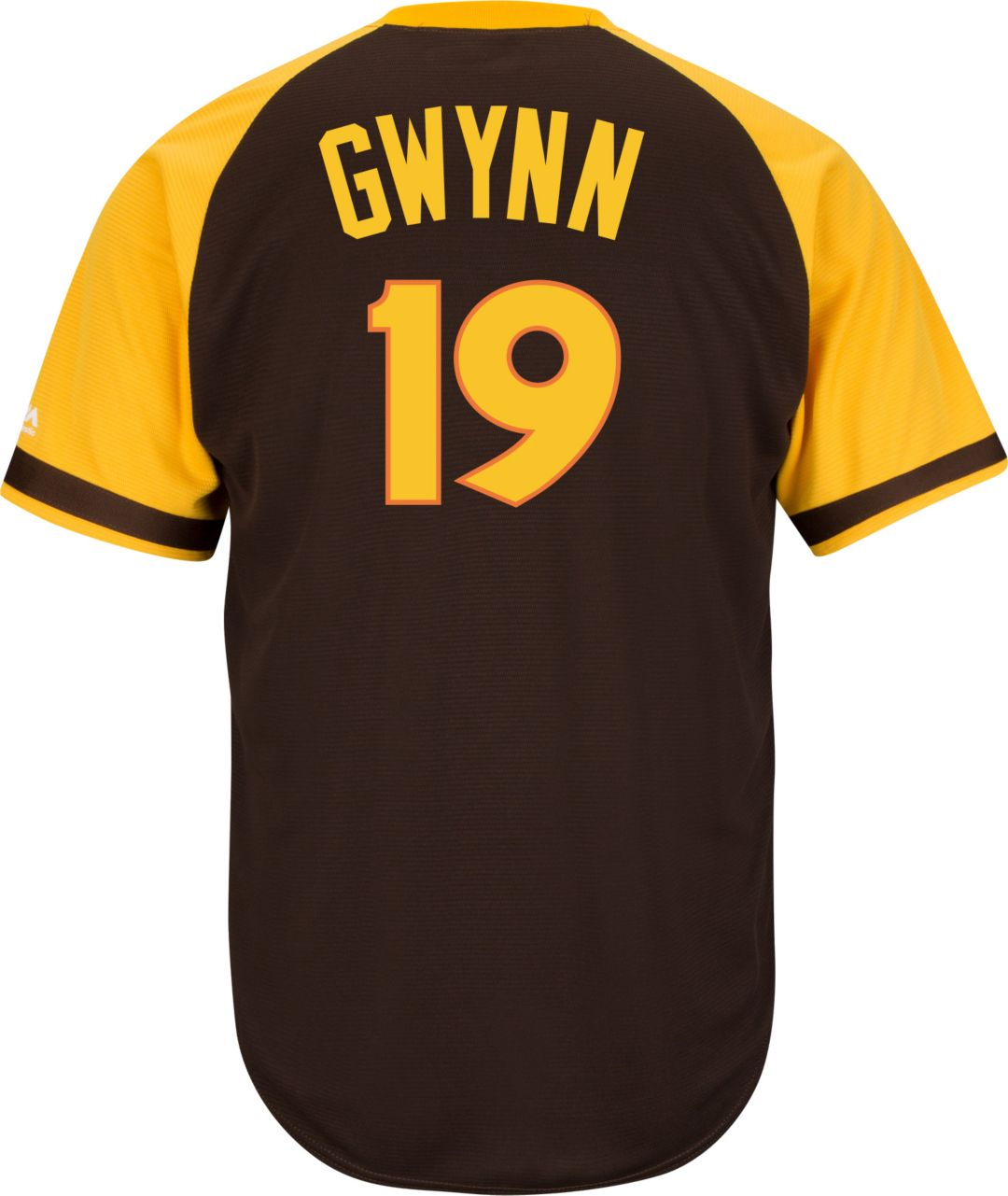 size 40 41e78 04581 Majestic Men's Replica San Diego Padres Tony Gwynn Cool Base Brown  Cooperstown Jersey