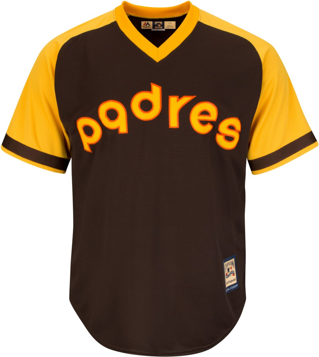 size 40 714db b469d Majestic Men's Replica San Diego Padres Tony Gwynn Cool Base Brown  Cooperstown Jersey