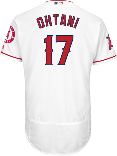 beedad85345 Majestic Men s Authentic Los Angeles Angels Shohei Ohtani  17 Flex Base  Home White On-Field Jersey. noImageFound. Previous. 1. 2. 3