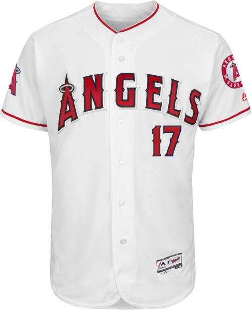 90fc09b7e Majestic Men s Authentic Los Angeles Angels Shohei Ohtani  17 Flex Base  Home White On-Field Jersey