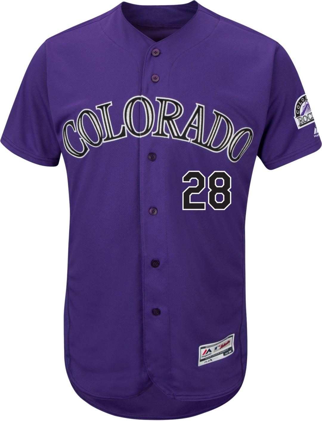 Colorado Jersey Colorado Rockies Rockies Purple Purple