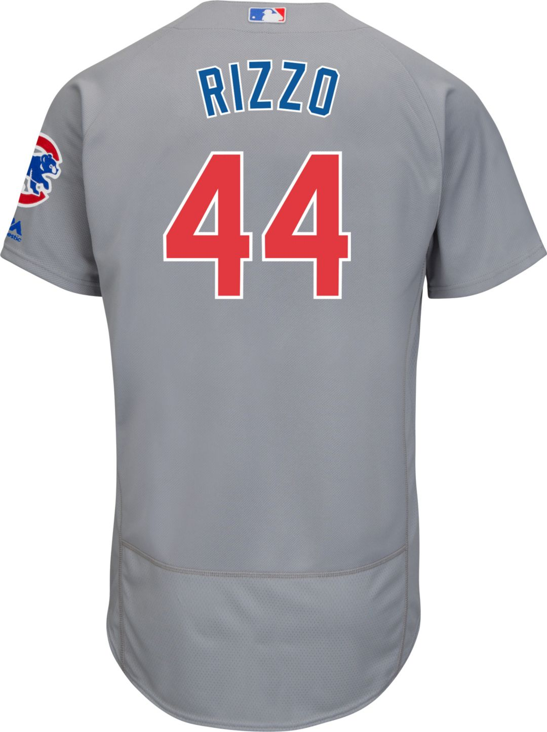 new concept 253b3 33482 Majestic Men's Authentic Chicago Cubs Anthony Rizzo #44 Road Grey Flex Base  On-Field Jersey