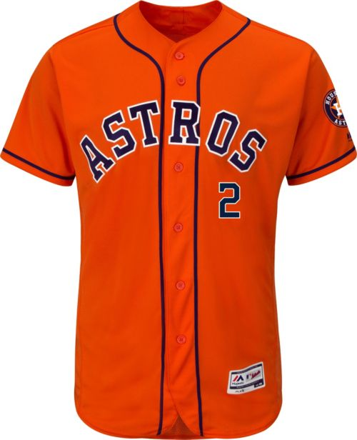 31532e59c5f Majestic Men s Authentic Houston Astros Alex Bregman  2 Flex Base Alternate  Orange On-Field Jersey. noImageFound. Previous. 1. 2