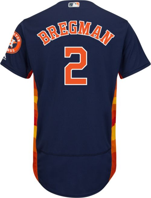 wholesale majestic mens authentic houston astros alex bregman 2 flex base  alternate navy on field jersey c581493df