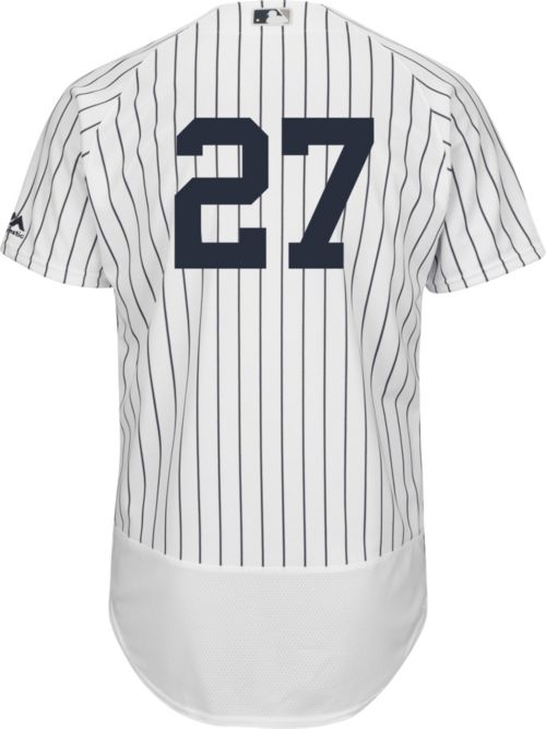 d2e86f3c2 Majestic Men s Authentic New York Yankees Giancarlo Stanton  27 Flex Base  Home White On-Field Jersey. noImageFound. Previous. 1. 2. 3