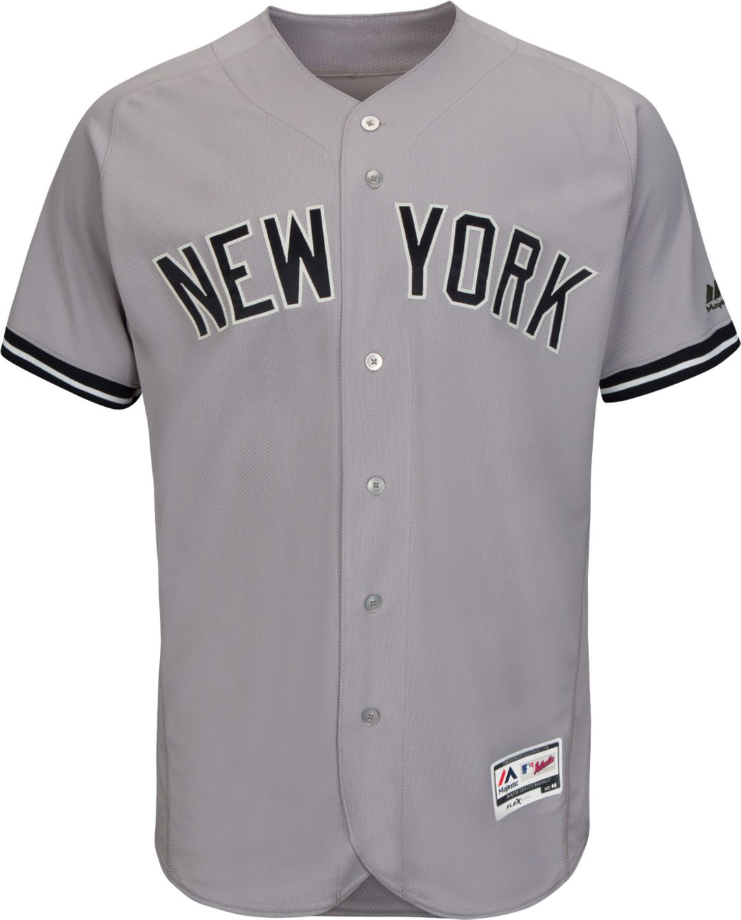 san francisco 33a21 51030 Majestic Men's Authentic New York Yankees Aaron Judge #99 Flex Base Road  Grey On-Field Jersey