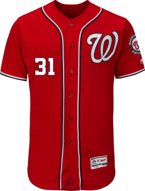 Majestic Men s Authentic Washington Nationals Max Scherzer  31 Alternate Red  Flex Base On-Field Jersey. noImageFound. Previous. 1. 2 2648436b9