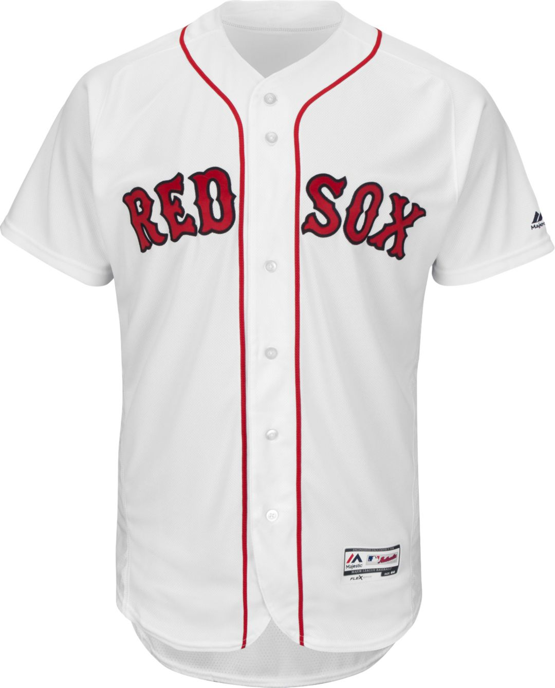 new style a7559 e9830 Majestic Men's Authentic Boston Red Sox Home White Flex Base On-Field Jersey