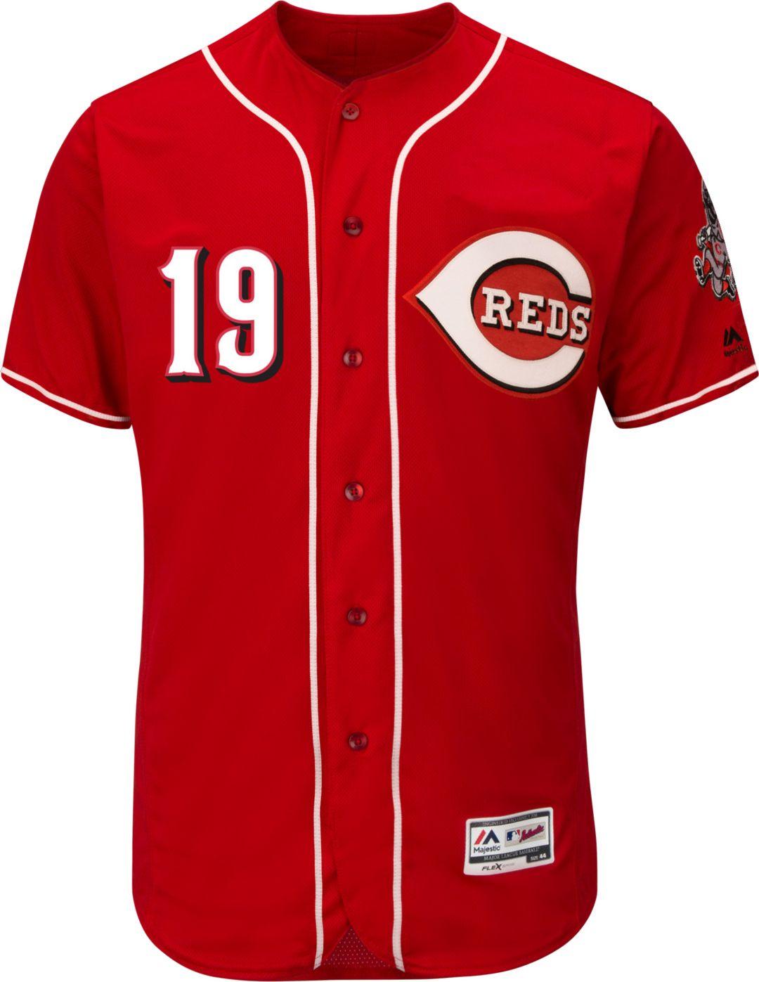f84a171e4 Majestic Men's Authentic Cincinnati Reds Joey Votto #19 Alternate ...