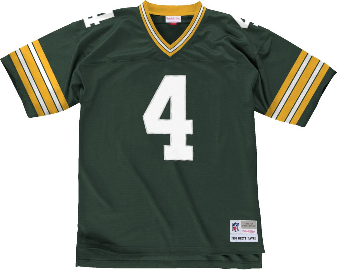 finest selection 0ad6e a28c4 Mitchell & Ness Men's 1996 Home Game Jersey Green Bay Packers Brett Favre #4