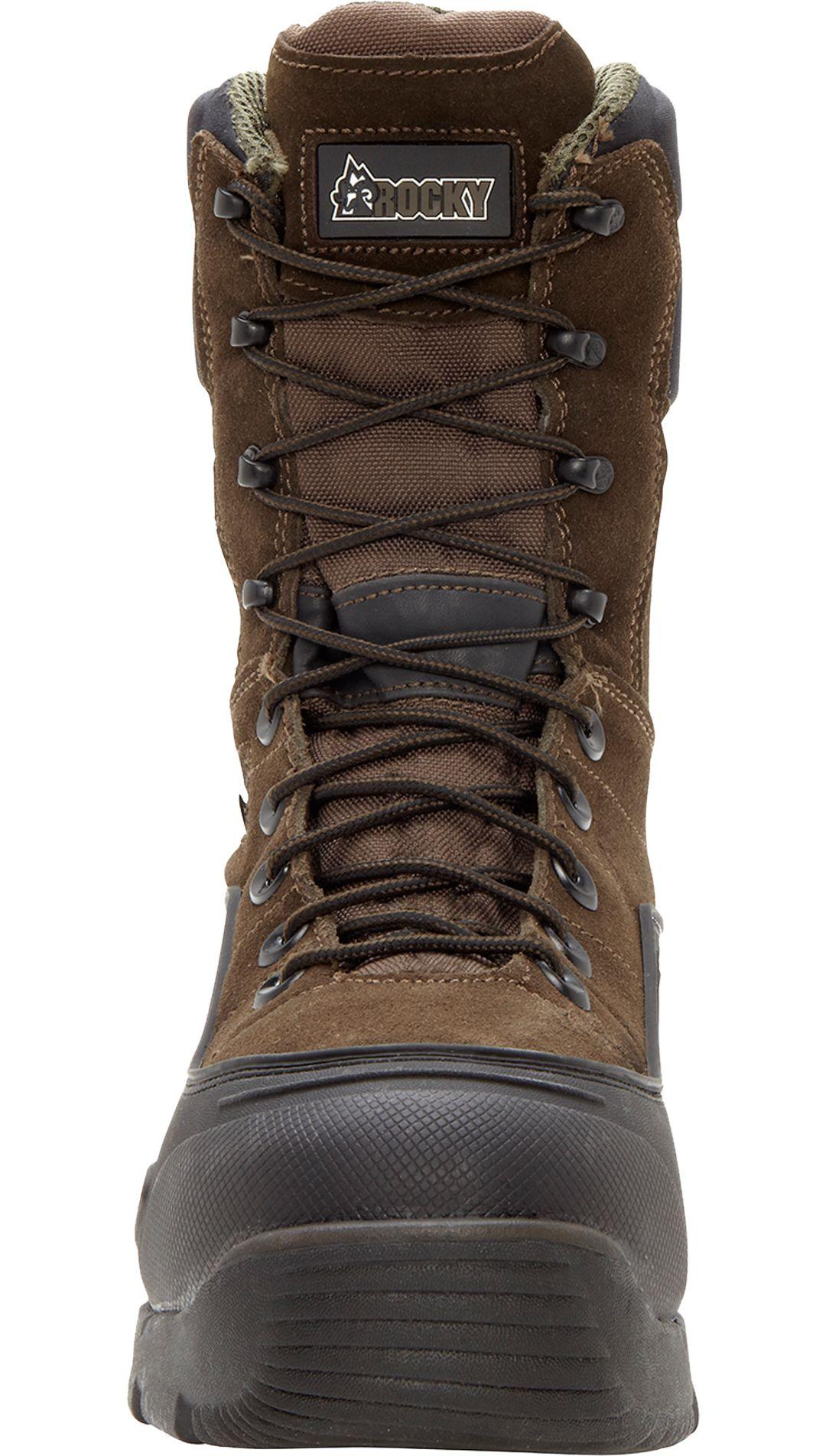"""758ad454415 Rocky Men's BlizzardStalker 9"""" 1200g Waterproof Steel Toe Work Boots"""