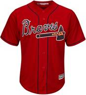 Majestic Men's Replica Atlanta Braves Ozzie Albies #1 Cool Base Alternate Red Jersey product image