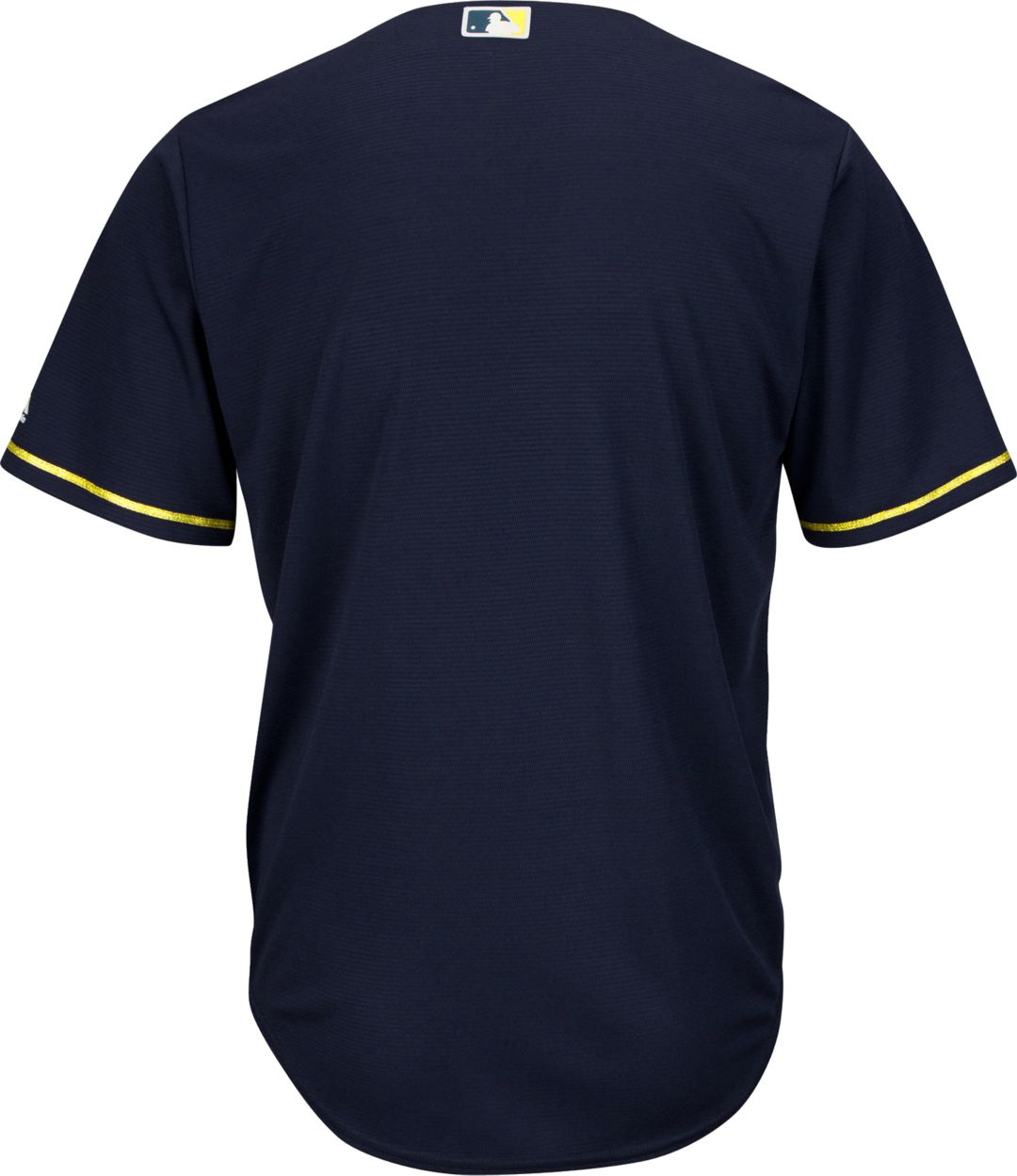 121263dc Majestic Men's Replica Milwaukee Brewers Cool Base Alternate Road Navy  Jersey