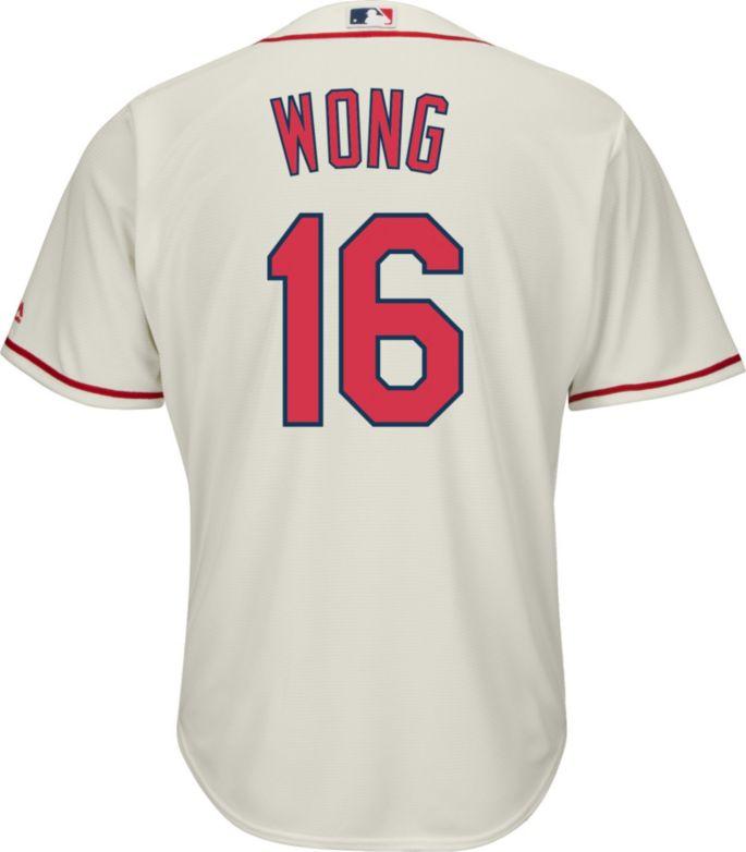 super popular a5a5e 3f280 Majestic Men's Replica St. Louis Cardinals Kolten Wong #16 Cool Base  Alternate Ivory Jersey