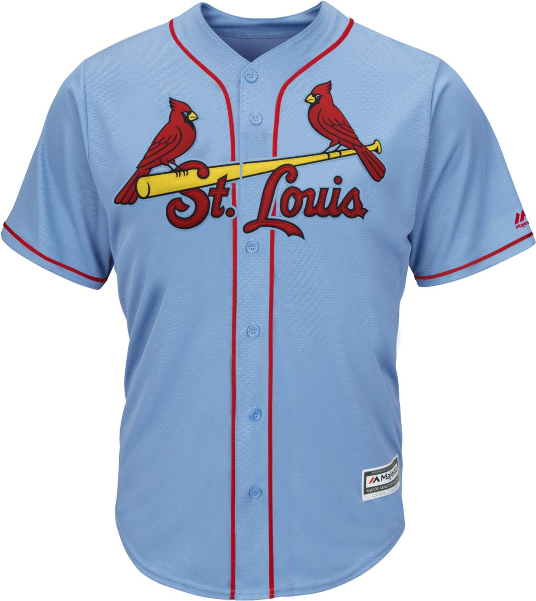 4b39ae3a Majestic Men's Replica St. Louis Cardinals Paul Goldschmidt #46 Cool Base  Alternate Light Blue Jersey