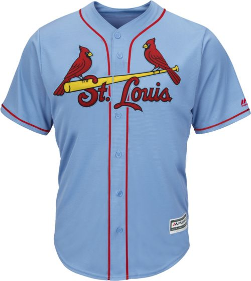 ca39e2e9e Majestic Men s Replica St. Louis Cardinals Yadier Molina  4 Cool Base  Alternate Light Blue Jersey