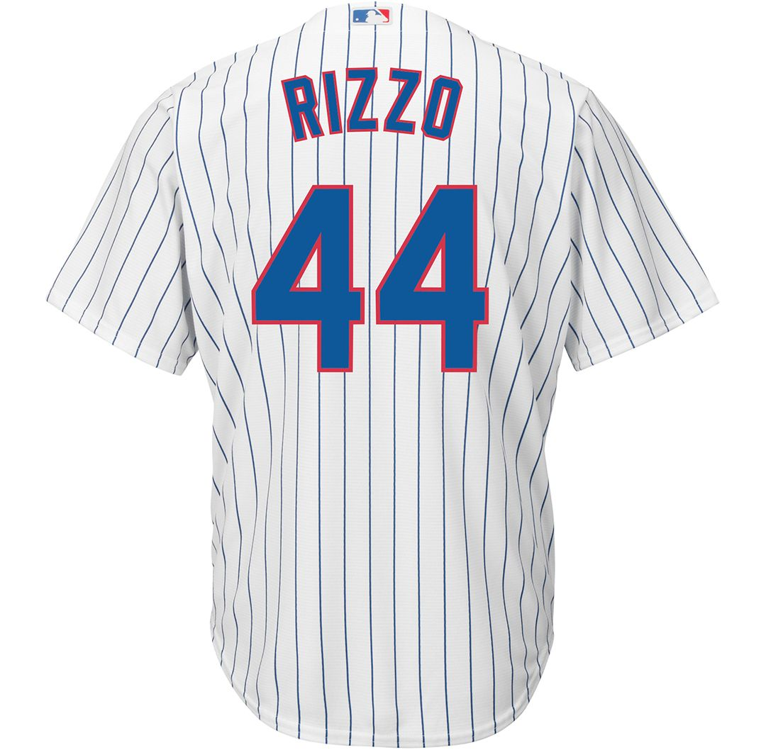brand new 0cd0a b519f Majestic Men's Replica Chicago Cubs Anthony Rizzo #44 Cool Base Home White  Jersey
