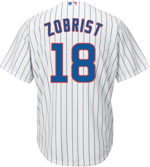 d106a5d3a Majestic Men s Replica Chicago Cubs Ben Zobrist  18 Cool Base Home White  Jersey. noImageFound. Previous. 1. 2. 3